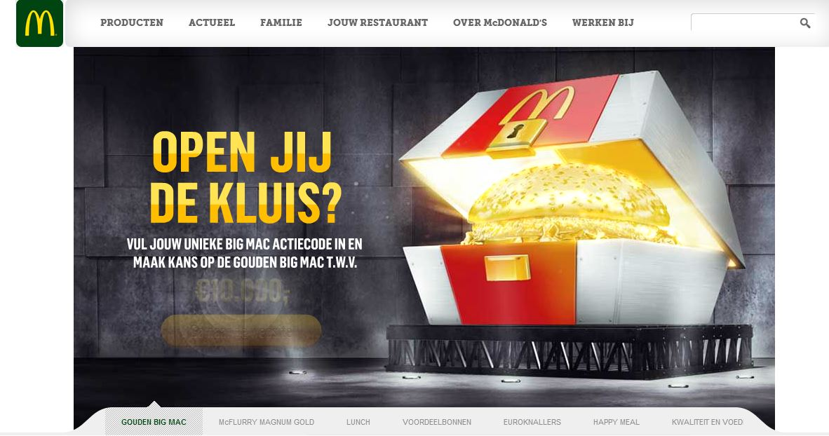 McDonald's Website for The Netherlands